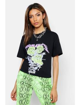 Pastel Neon Band T Shirt by Boohoo