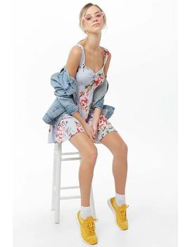 Floral Mini Skater Dress by Forever 21