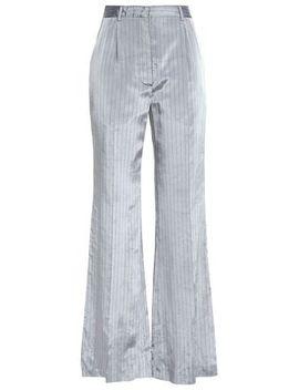 Pinstriped Satin Twill Wide Leg Pants by Sonia Rykiel