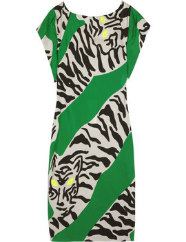 Asher Printed Crepe Dress by Diane Von Furstenberg