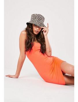Neon Orange Strappy Cami Bodycon Mini Dress by Missguided