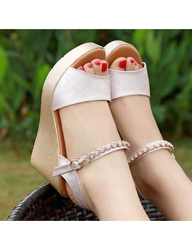 Hannah   Platform Wedge Sandals by Hannah