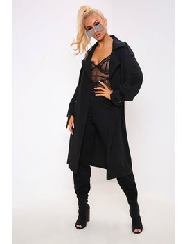 Black Classic Trench Coat by I Saw It First