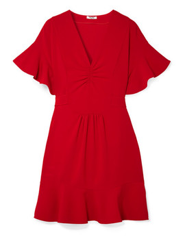 Ruffled Cady Dress by Miu Miu