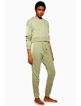 Satin Panel Lounge Joggers by Topshop