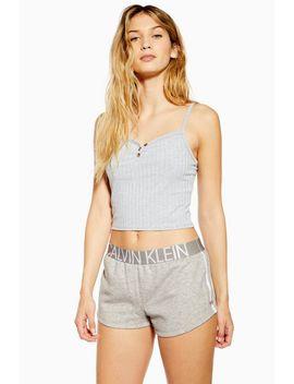 Grey Pyjama Shorts By Calvin Klein by Topshop