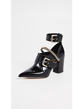Holly Cut Out Ankle Boots by Self Portrait