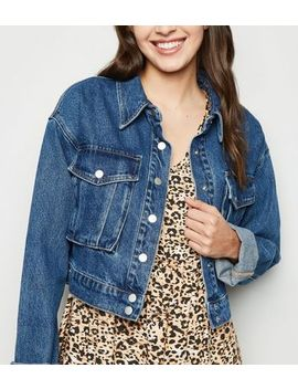 Blue Denim Utility Jacket by New Look