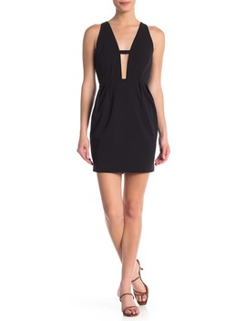 Bow Back Plunge Mini Dress by One One Six