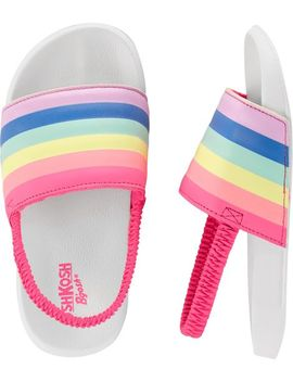 Rainbow Slip On Sandals by Oshkosh