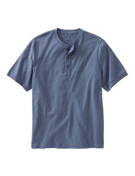 lakewashed-organic-cotton-shirt,-short-sleeve-henley by llbean