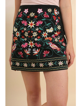 Floral Embroidered Skirt by It's Swice, Texas