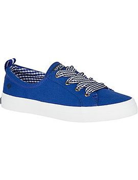 Women's Crest Vibe Gingham Lace Sneaker by Sperry