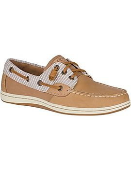 Women's Songfish Chambray Stripe Boat Shoe by Sperry