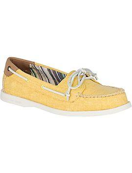 Women's Authentic Original Venice Linen Boat Shoe by Sperry