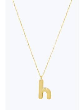 Bubbly H Pendant Necklace by Marc Jacobs