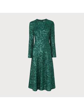 Lazia Green Sequin Dress by L.K.Bennett