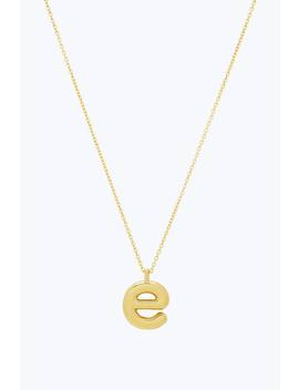 Bubbly E Pendant Necklace by Marc Jacobs