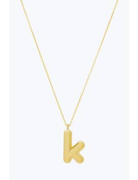 Bubbly K Pendant Necklace by Marc Jacobs