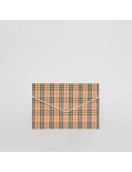 Large 1983 Check Envelope Pouch by Burberry