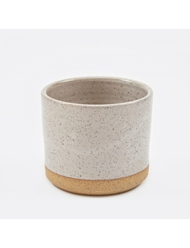 """5"""" Planter   White Speckle by Norden"""