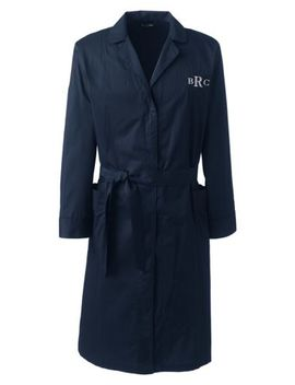 Men's Broadcloth Robe by Lands' End
