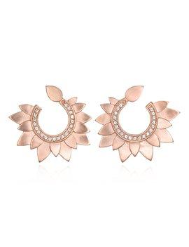Rose Gold Petal Swirl Earrings by Satya