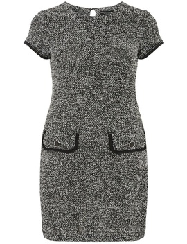 Monochrome Boucle Shift Dress by Dorothy Perkins
