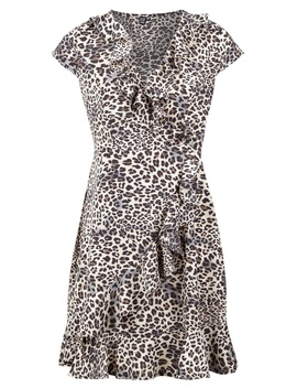 *Izabel London Animal Print Wrap Dress by Dorothy Perkins