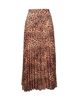 **Tall Multi Coloured Animal Print Pleat Skirt by Dorothy Perkins