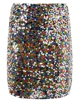 Silver 'barbie' Sequin Embellished Mini Skirt by Dorothy Perkins