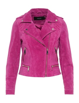 **vero-moda-hot-pink-suede-jacket by dorothy-perkins
