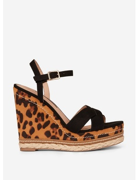 Multi Colour Leopard Print 'rosie' Cross Wedges by Dorothy Perkins
