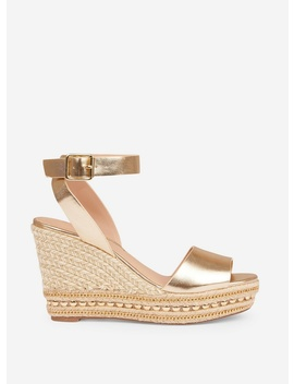 Gold Goddess Wedges by Dorothy Perkins