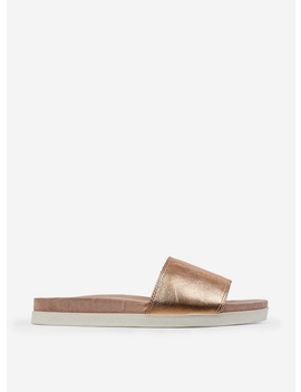 Rose Gold Comfort Flat Mules by Dorothy Perkins