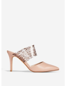 Nude 'Dixie' Mules by Dorothy Perkins