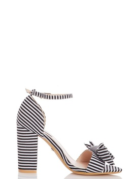 *Quiz Black And White Bow Sandals by Dorothy Perkins