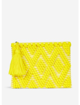 Lemon Yellow Bobble Clutch Bag by Dorothy Perkins