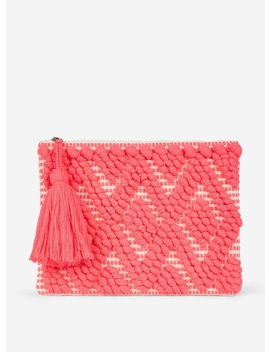 Pink Bobble Clutch Bag by Dorothy Perkins