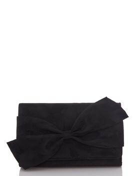 *Quiz Black Bow Clutch Bag by Dorothy Perkins