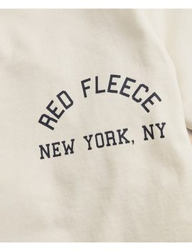 Red Fleece New York Graphic T Shirt by Brooks Brothers
