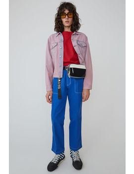 Denim Jacket Blue/Pink by Acne Studios