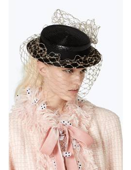 Marc Jacobs X Stephen Jones Millinery Boater Hat With Veil by Marc Jacobs