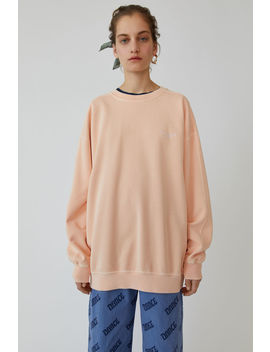 Crewneck Sweatshirt Pale Orange by Acne Studios
