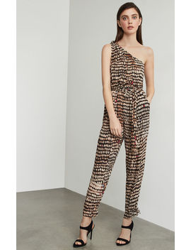 Sandy Dots One Shoulder Jumpsuit by Bcbgmaxazria