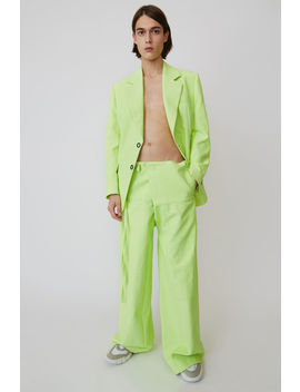 Wide Legged Trousers Fluo Yellow/Off White by Acne Studios