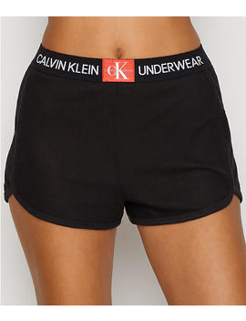 Monogram Mesh Sleep Shorts by Calvin Klein
