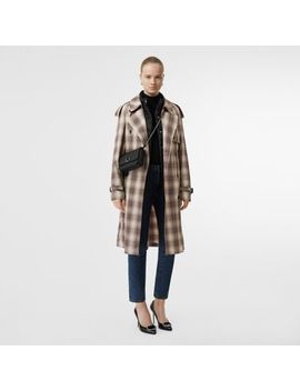 Lightweight Check Trench Coat by Burberry
