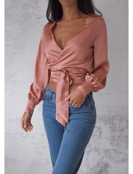 Taromina Wrap Top   Blush by Lioness