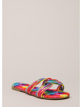 Loop Dreams Strappy Rainbow Sandals by Go Jane